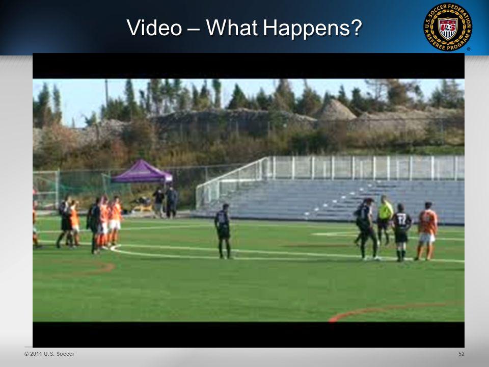 © 2011 U.S. Soccer52 Video – What Happens