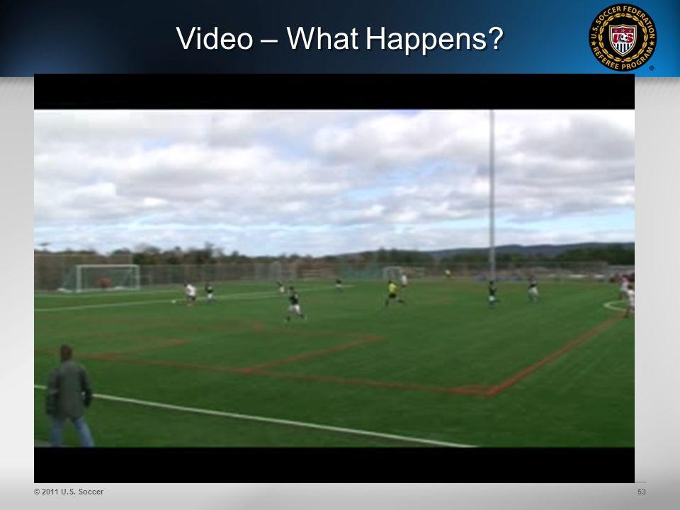 © 2011 U.S. Soccer53 Video – What Happens