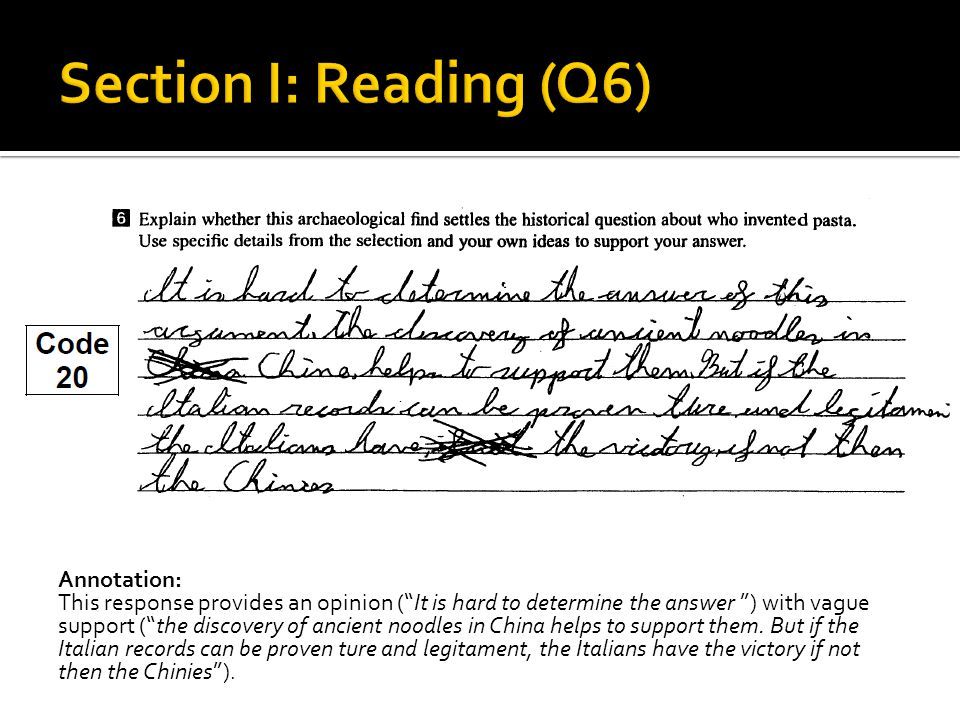 Annotation: This response provides an opinion ( It is hard to determine the answer ) with vague support ( the discovery of ancient noodles in China helps to support them.
