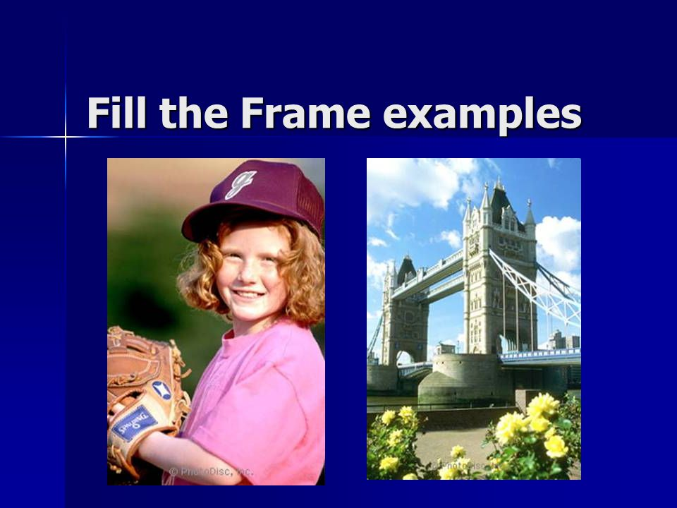 Fill the Frame examples