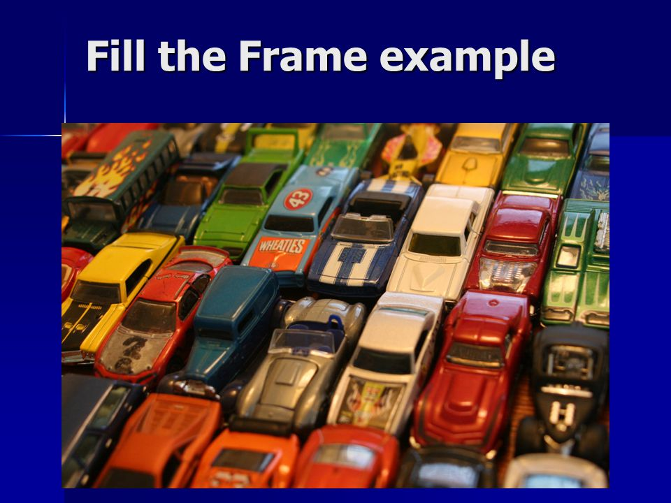 Fill the Frame example