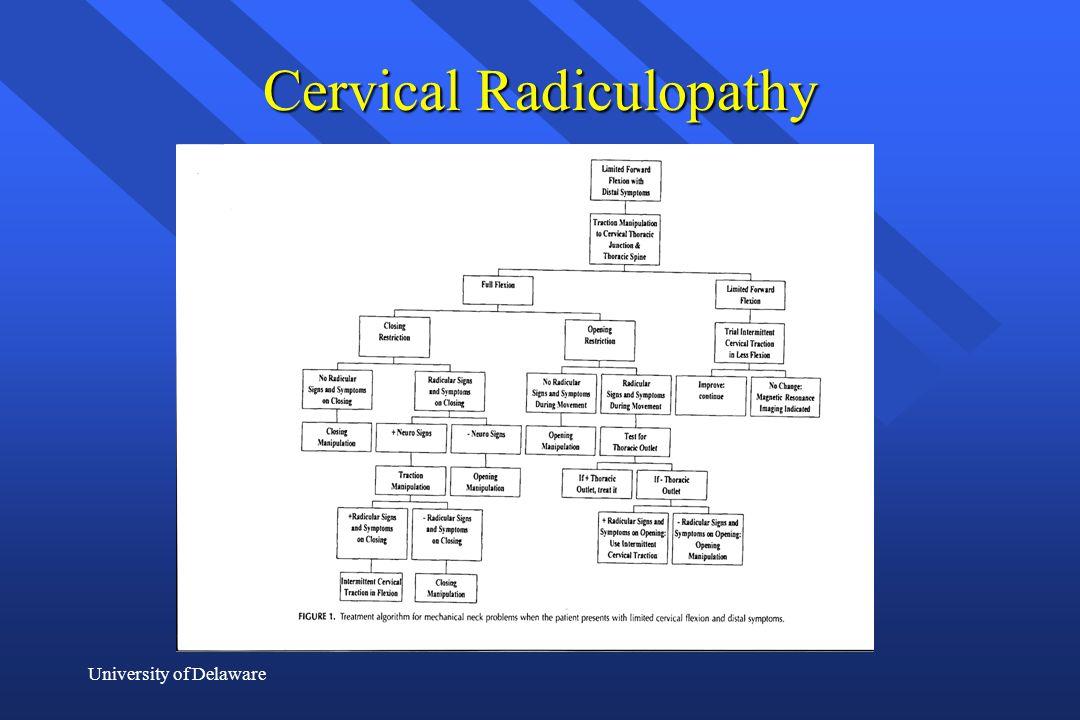 University of Delaware Cervical Radiculopathy