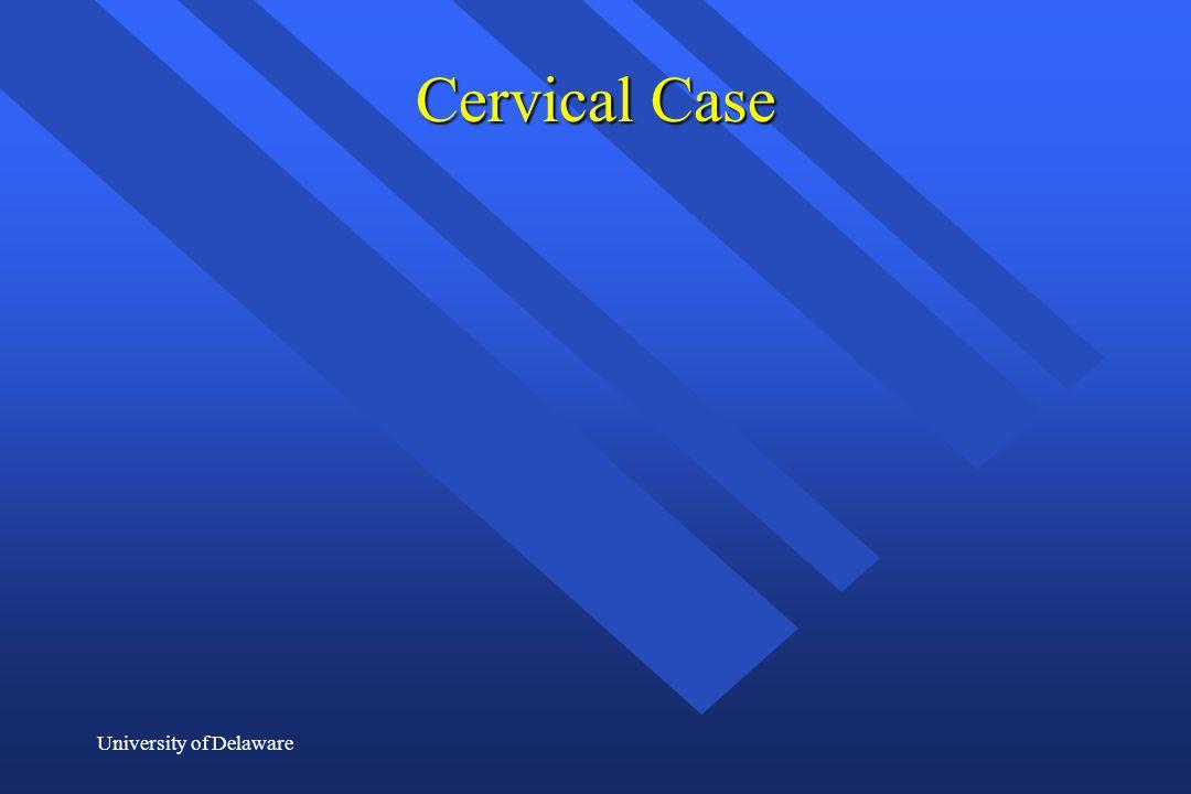 University of Delaware Cervical Case
