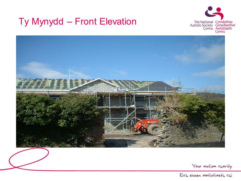 Ty Mynydd – Front Elevation