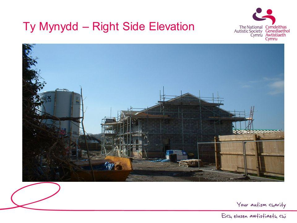 Ty Mynydd – Right Side Elevation
