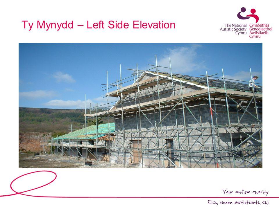 Ty Mynydd – Left Side Elevation