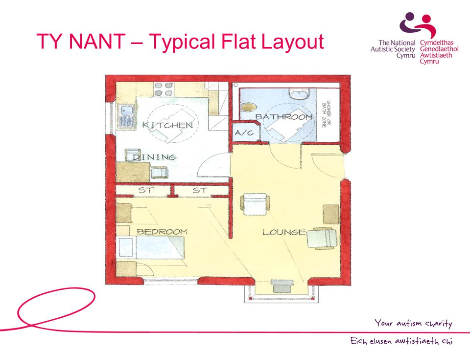 TY NANT – Typical Flat Layout