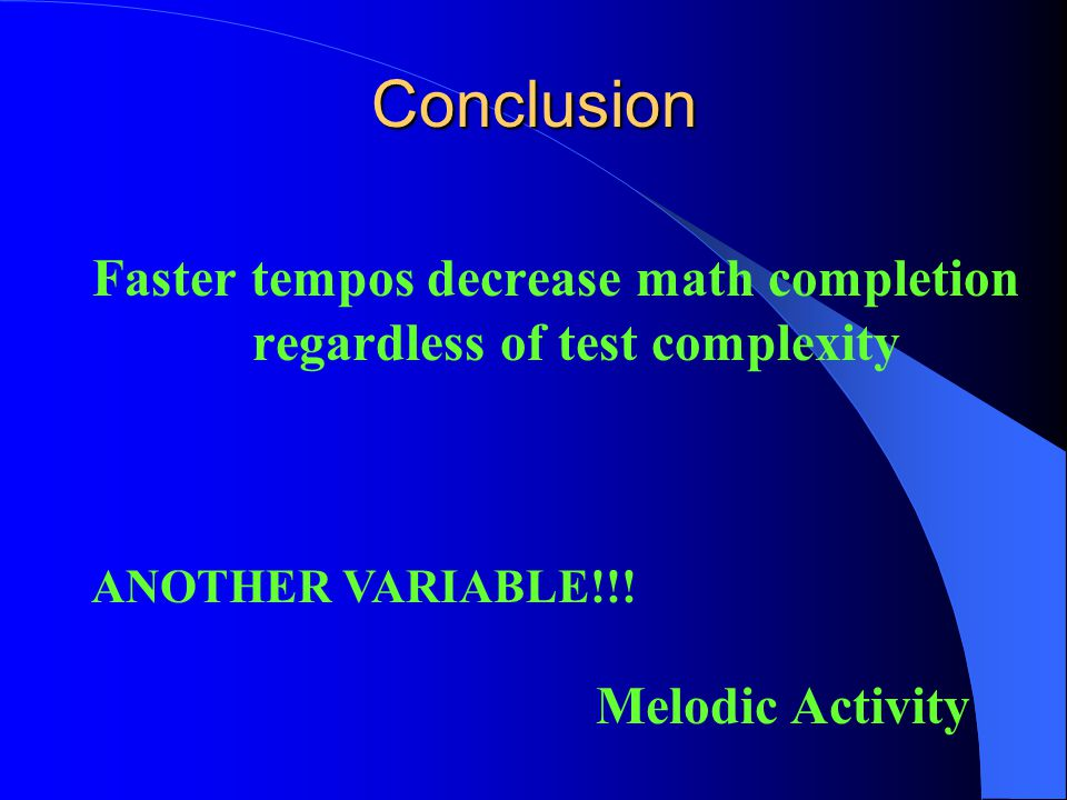 Source ppartial n 2 Tempo n.s. --- Complexity <.001.08 Tempo x Complexityn.s. --- Math Problem Errors