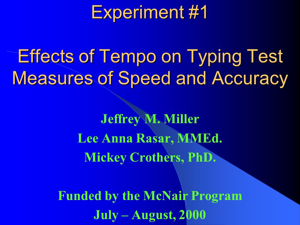STUDIES MANIPULATING TEMPO Martin1990no significant differences in slow, medium, or fast tempo for simple or complex task Gunsch1991rock music improve