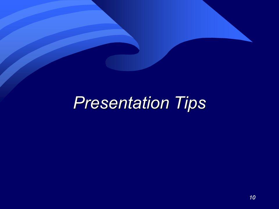 10 Presentation Tips