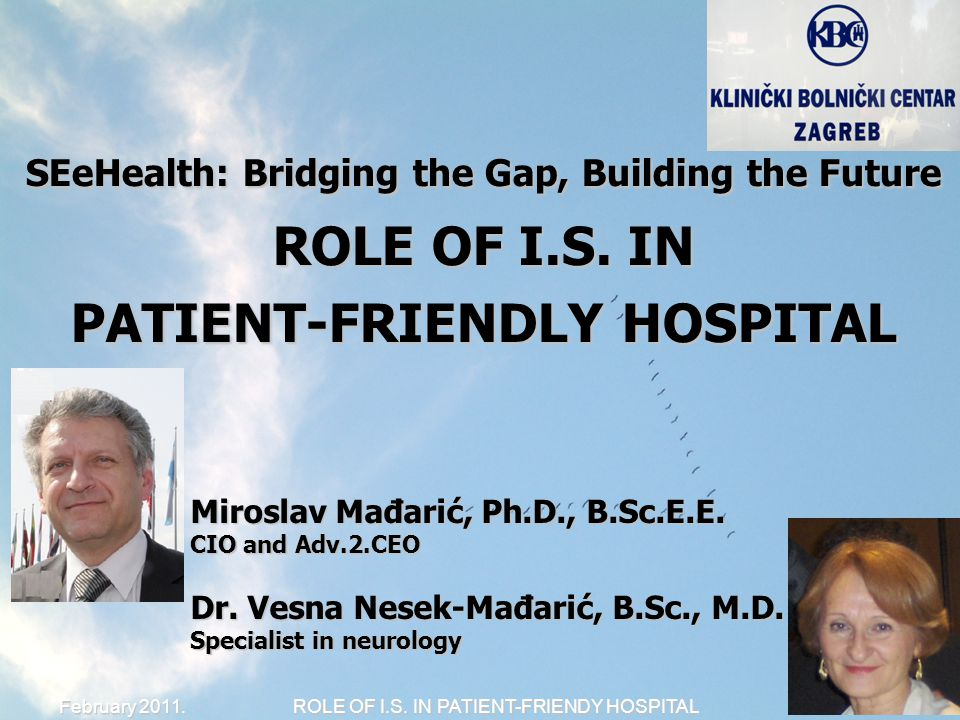 ROLE OF I.S. IN PATIENT-FRIENDY HOSPITAL 1/14 February 2011.