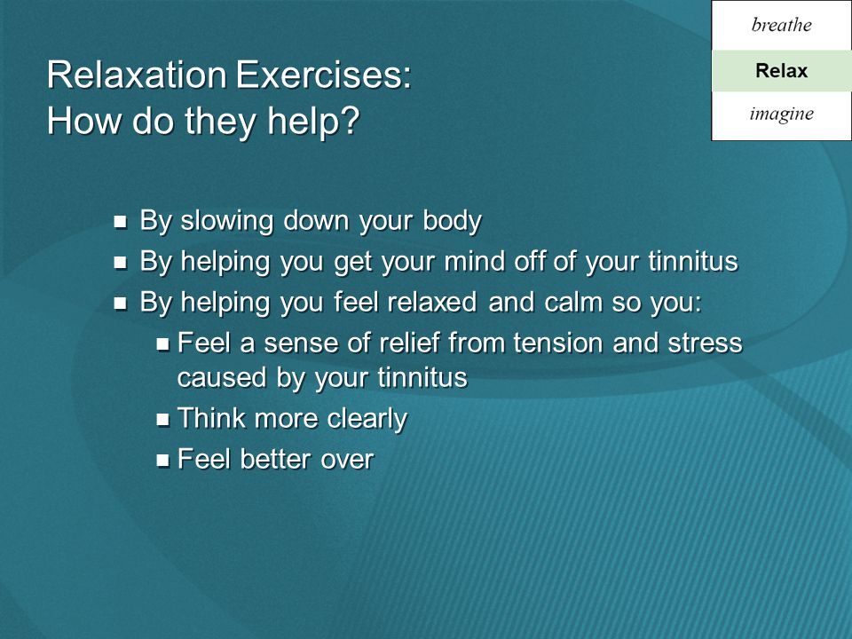 Relaxation Exercises: How do they help.