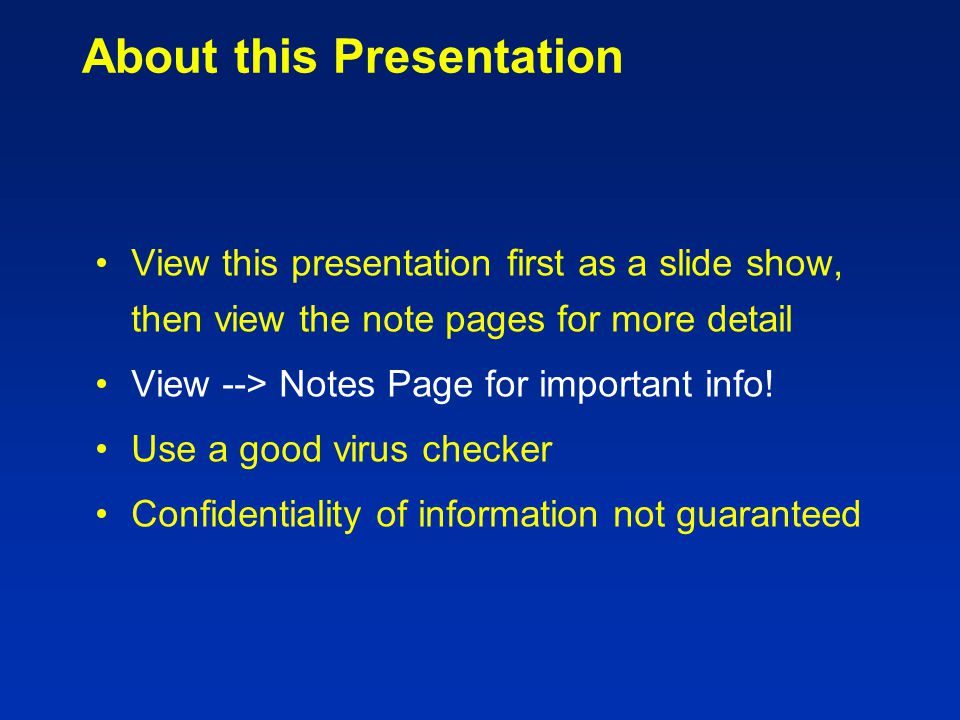 Electronic Presentation Guidelines for Author Talks GEMIC 2005