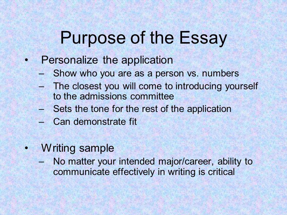 College Application Essay Workshop Westford Academy 05/01/2012