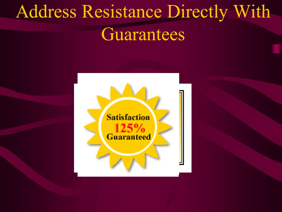 Address Resistance Directly With Guarantees