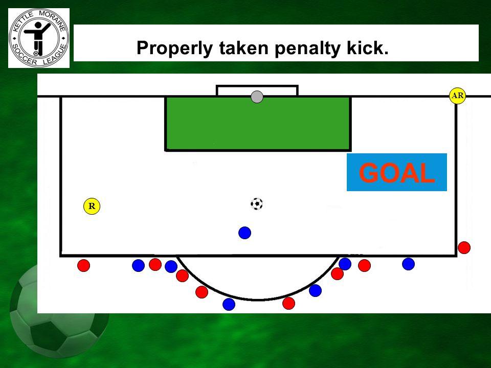 AR Properly taken penalty kick. GOAL R