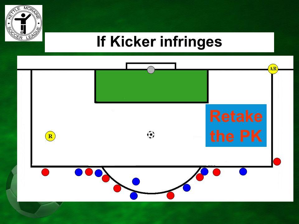 AR If Kicker infringes Retake the PK R
