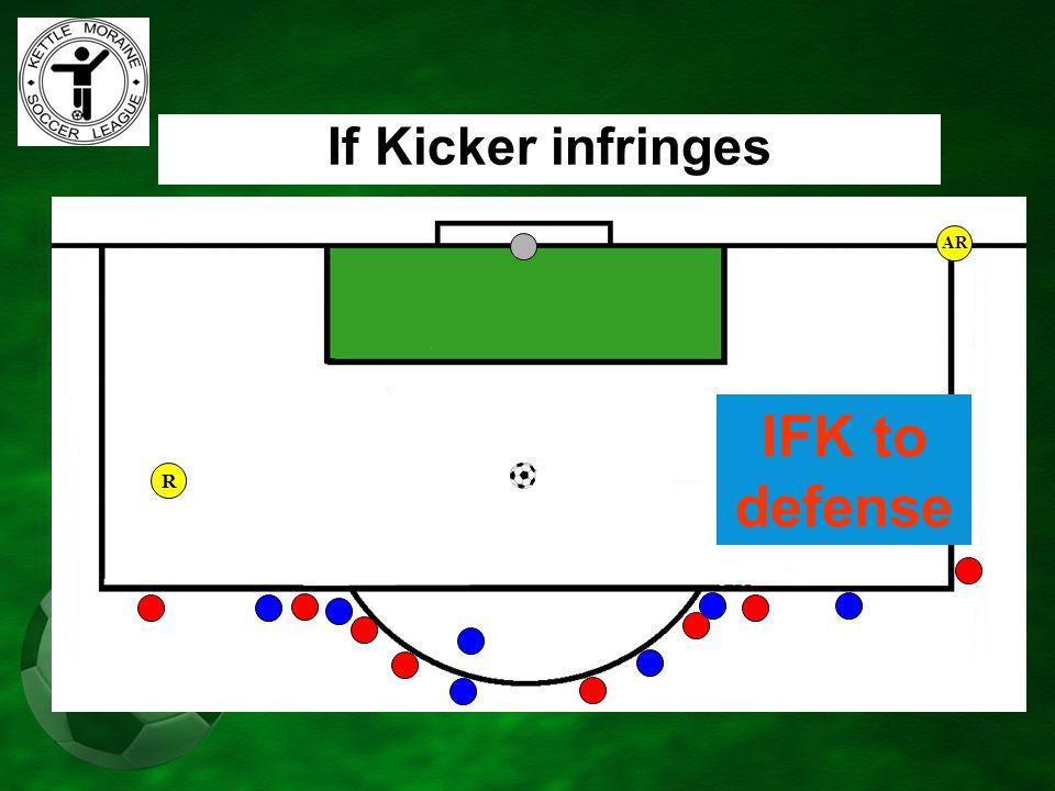 AR If Kicker infringes IFK to defense R