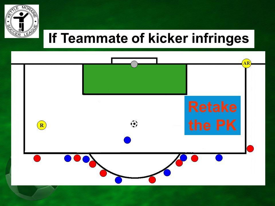 AR If Teammate of kicker infringes Retake the PK R