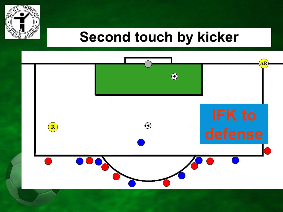 AR Second touch by kicker IFK to defense R