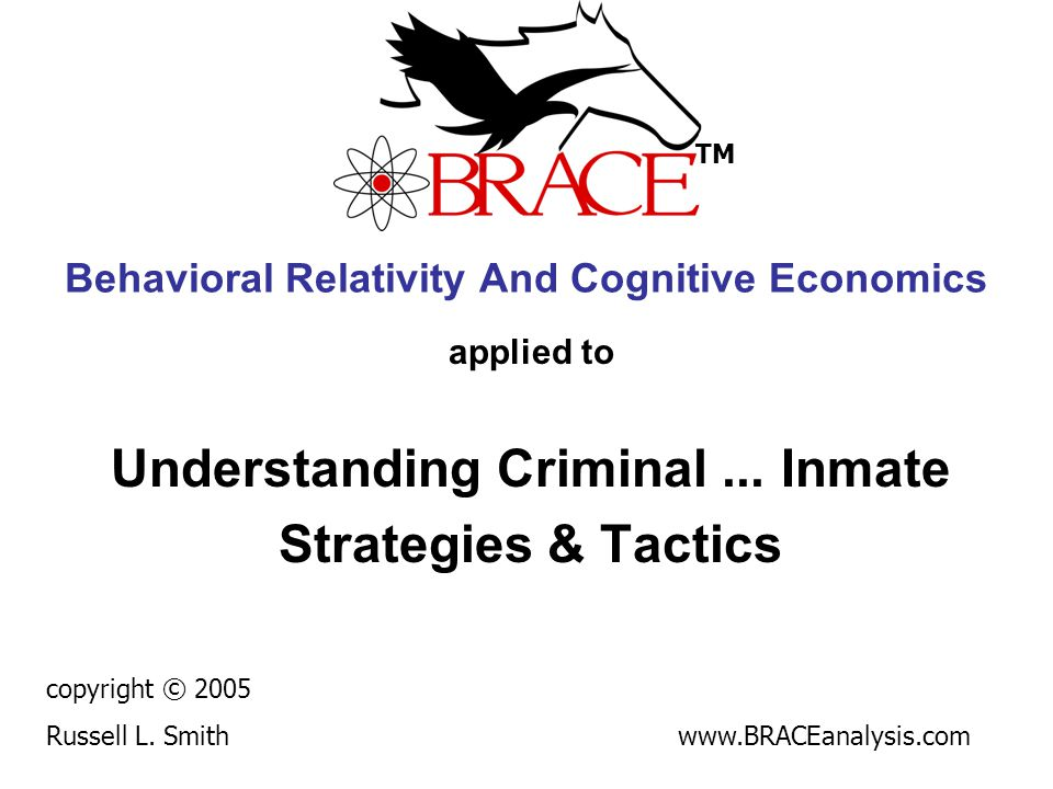 Behavioral Relativity And Cognitive Economics applied to Understanding Criminal...