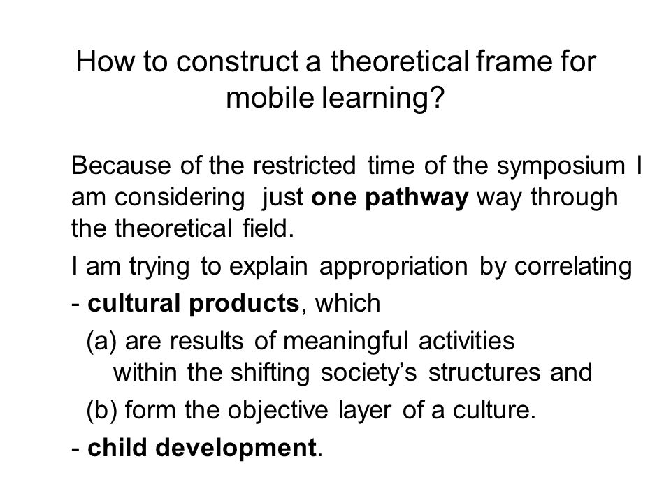 The school's task is to create the zones of proximal development ( Vygotsky 1978/ 1930, p. 90)