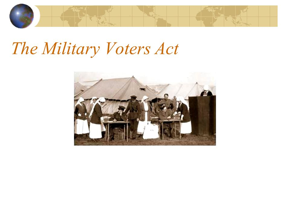 The Military Voters Act