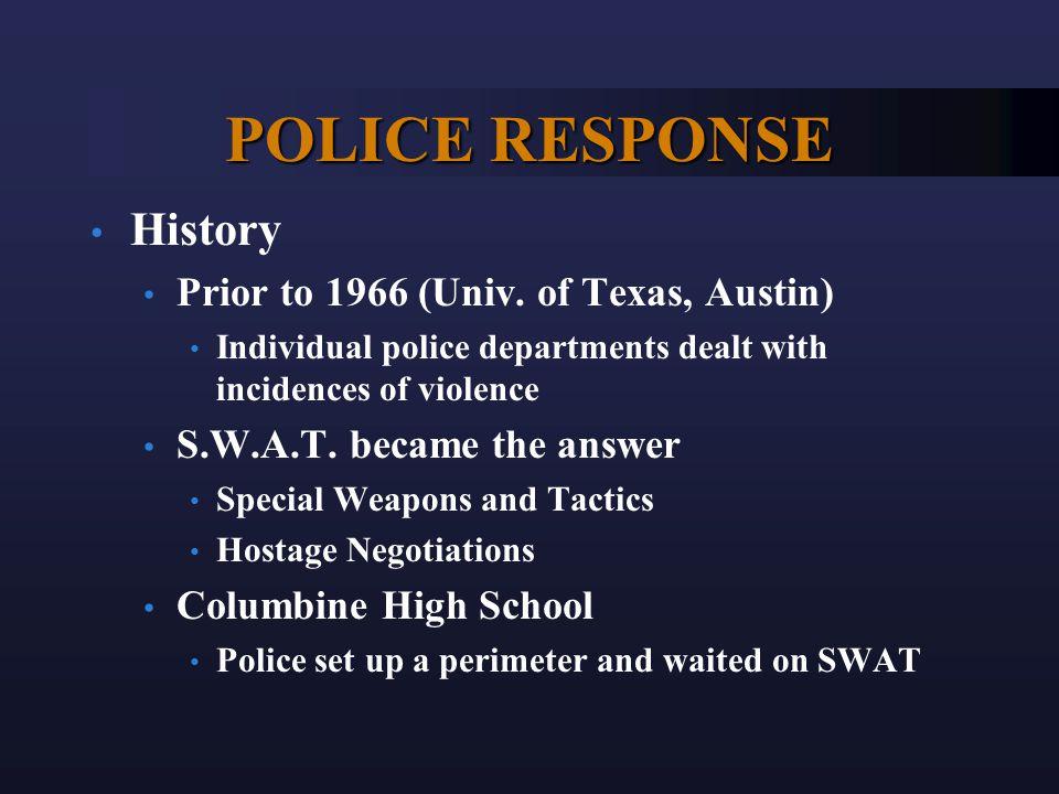 POLICE RESPONSE History Prior to 1966 (Univ.