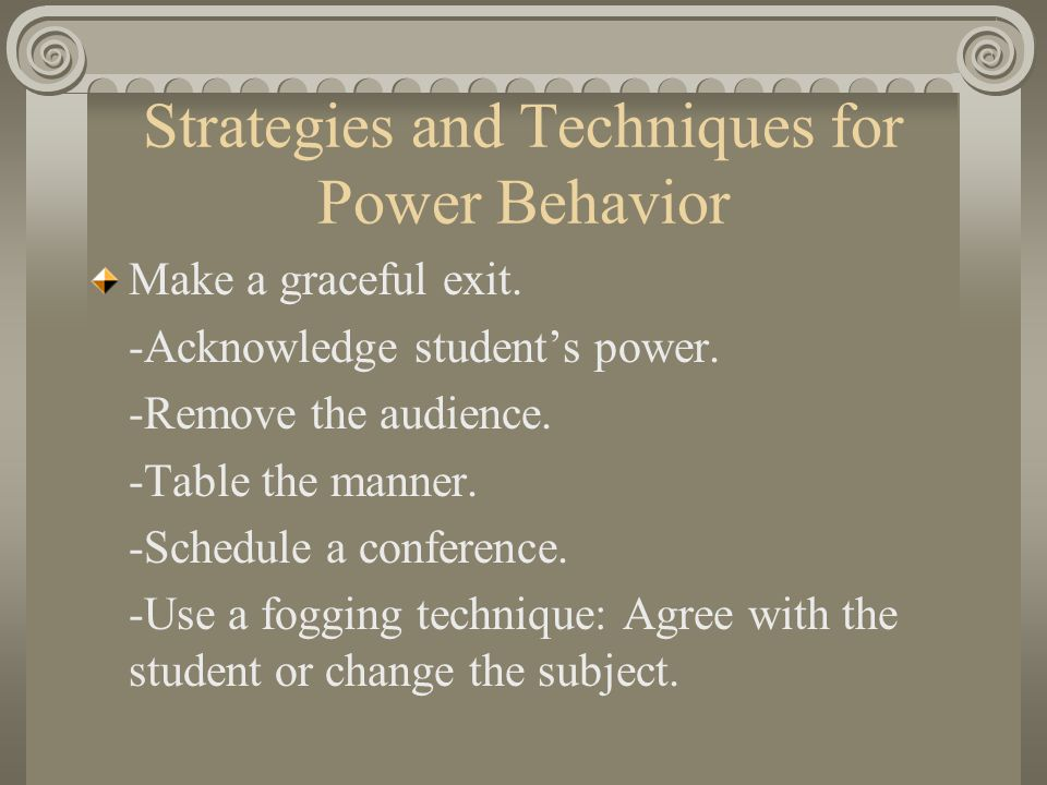 Strategies for Attention-Seeking Behavior Continued Move the student.