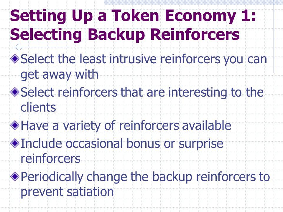 Running the Token Economy 2: Beginning the Program and Dispensing the Tokens Initially, dispense tokens often, gradually decreasing the no.