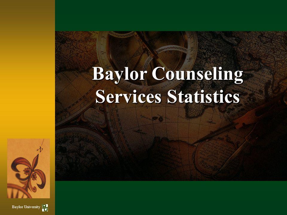 Baylor Counseling Services Statistics Baylor University