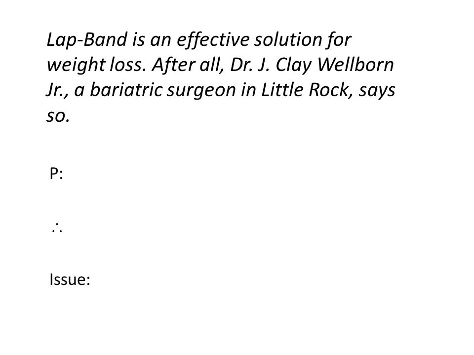 Lap-Band is an effective solution for weight loss.