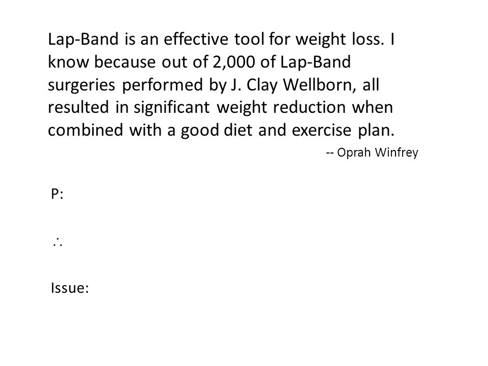 Lap-Band is an effective tool for weight loss.