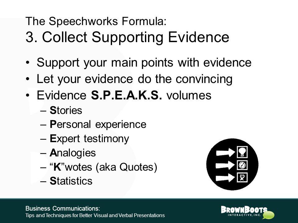 The Speechworks Formula: 2.