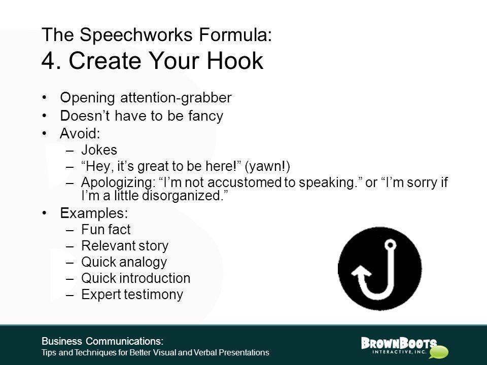 The Speechworks Formula: 3.