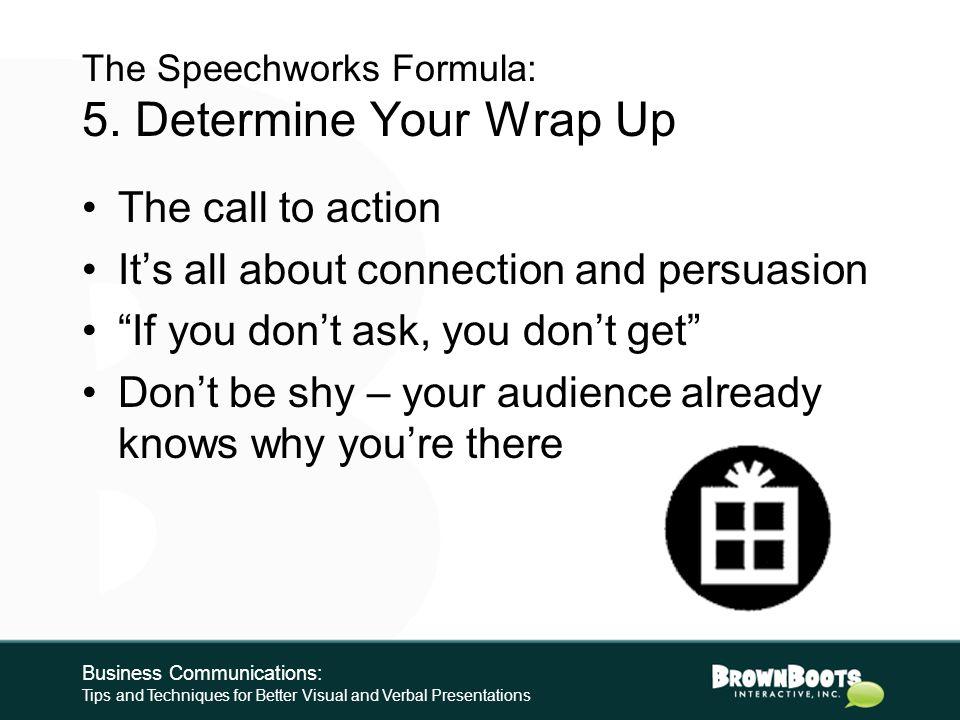 The Speechworks Formula: 4.