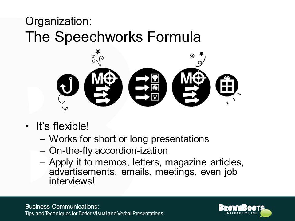 The Speechworks Formula: 5.
