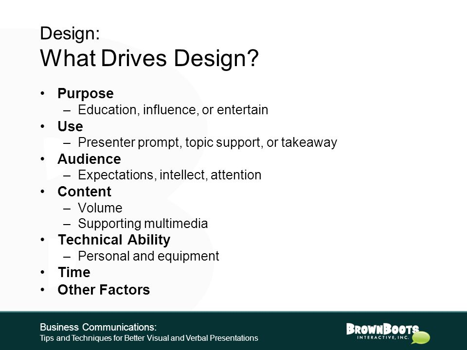DESIGN Business Communications: Tips and Techniques for Better Visual and Verbal Presentations