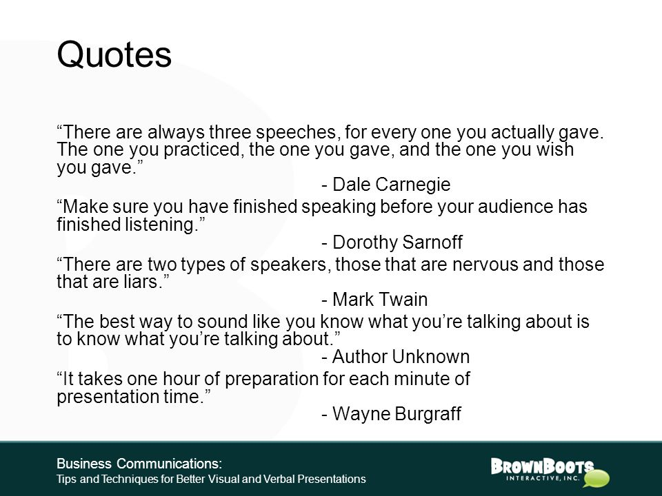 Resources Generic Speechworks-formula PowerPoint template and other BrownBoots AC University presentations: http://www.brownboots.com/presentations.ht