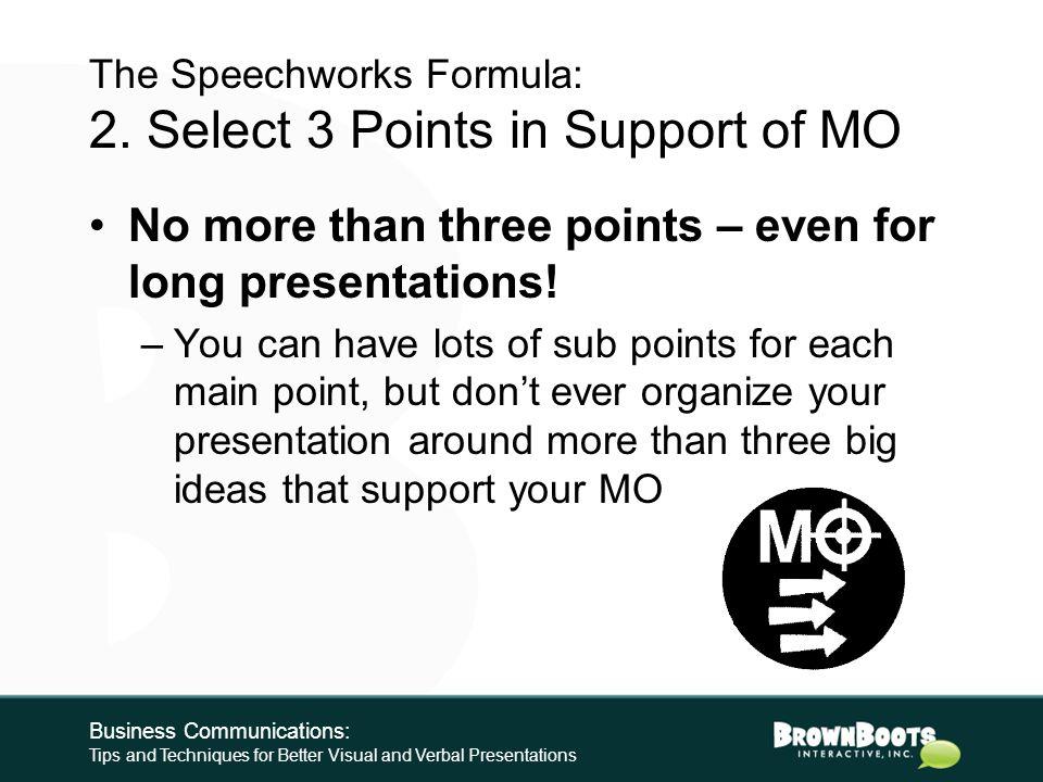 The Speechworks Formula: 1.