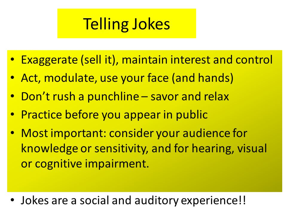 Humor Technique Self Analysis: What makes you laugh.