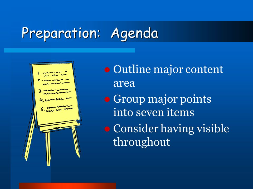 Preparation: Opening BLUF – bottom-line up-front Don't apologize or make excuses Write it last Consider memorizing it