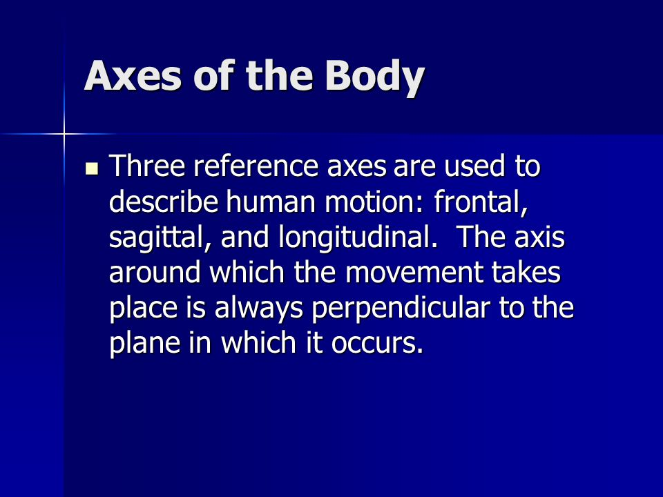 Axes of the Body Frontal.