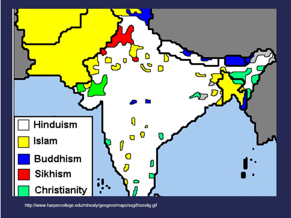 Buddhism in the Subcontinent http://www.harpercollege.edu/mhealy/geogres/maps/ssgif/ssrelig.gif