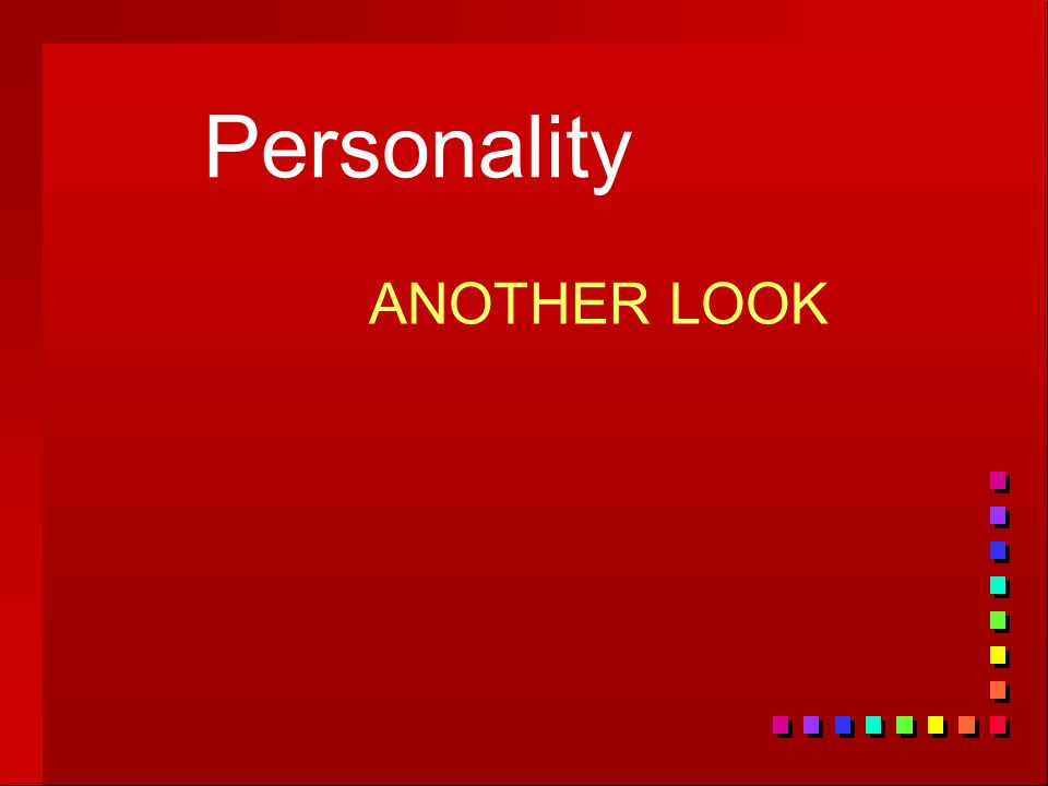 Personality ANOTHER LOOK