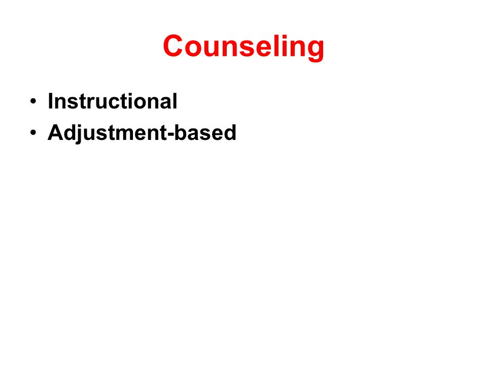Counseling Instructional counseling helps educate the patient about aspects of the tinnitus itself.