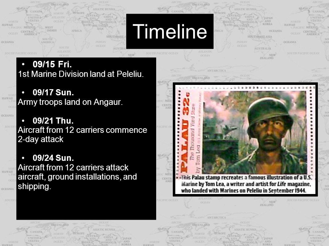 09/28 Thu.Marines occupy Ngesebus and Kongauru Islands 10/08 Sun.