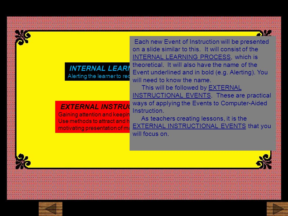 Explanation Window highlighting Other methods could include highlighting, arrows, different fonts and colors or anything else that distinguishes the important items.