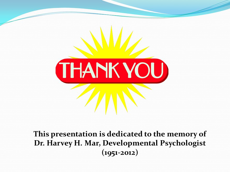 This presentation is dedicated to the memory of Dr.