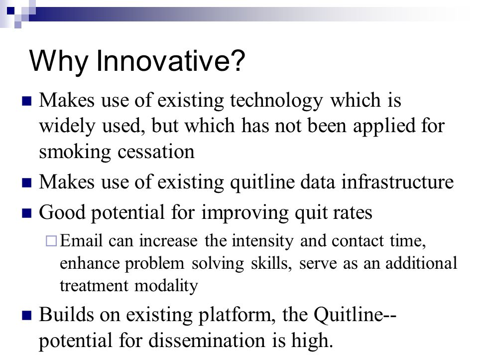 Why Innovative.